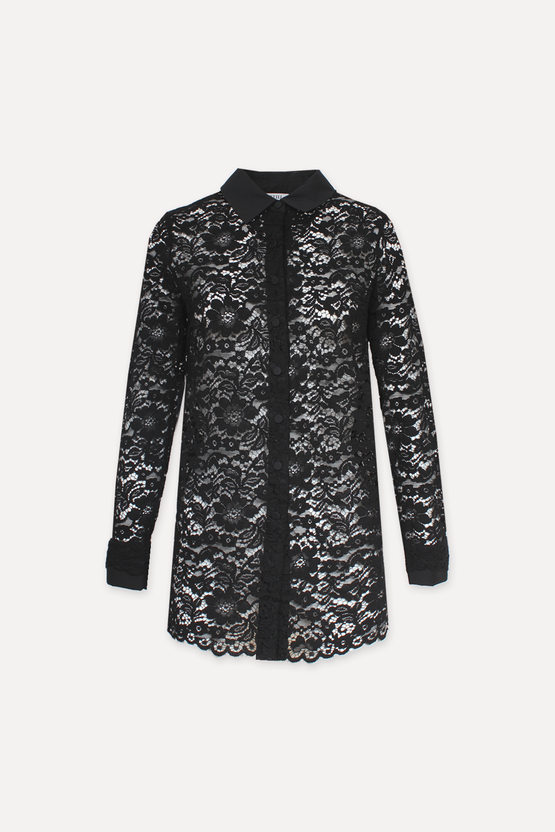 Lace shirt - MARILISE NOIR