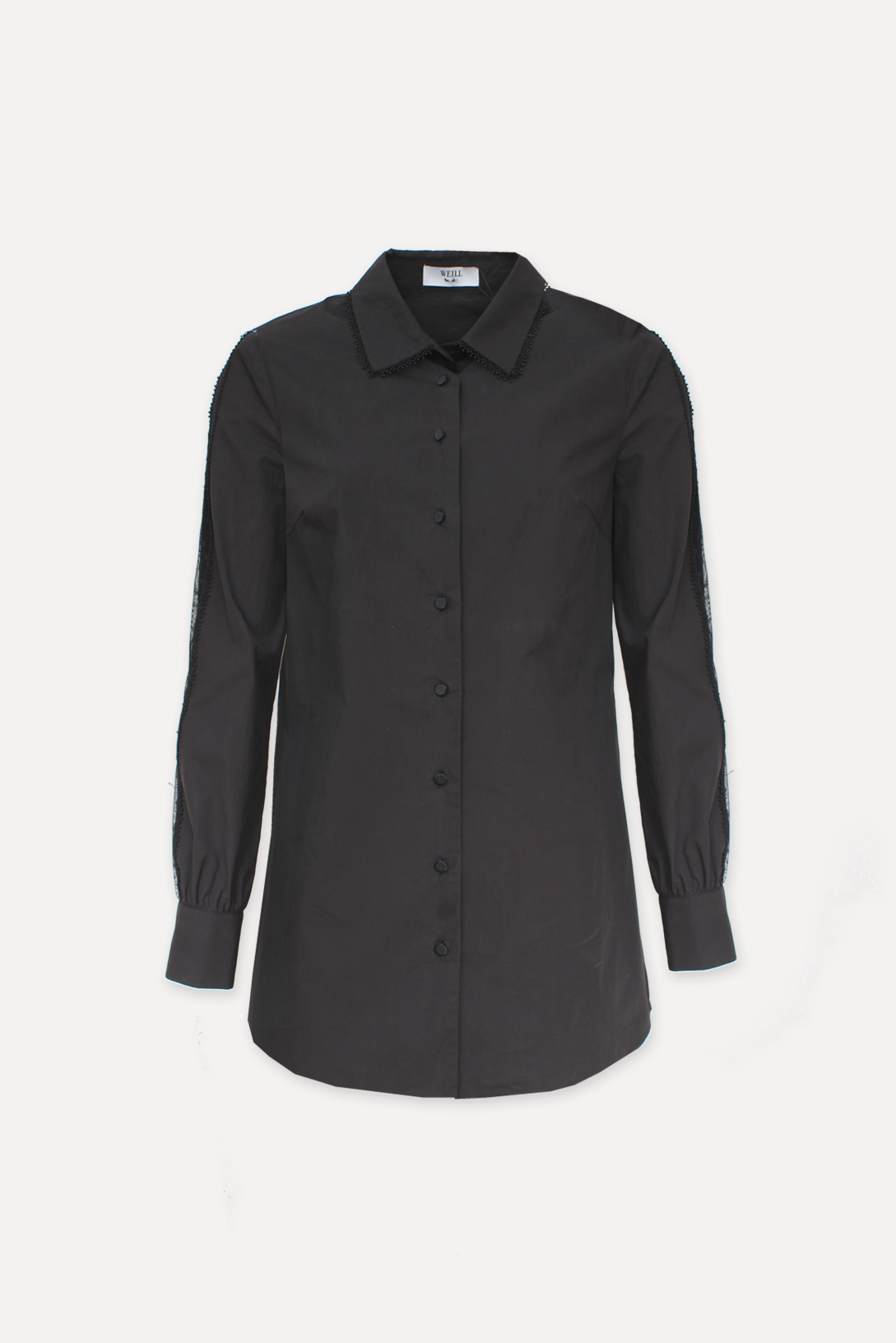 Long cotton shirt - MANDIE NOIR