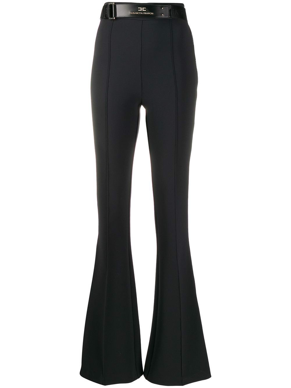 Welt Detail High-Waisted Trousers