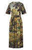 Landscape Ctpop Ss Crw Midi Day Dress