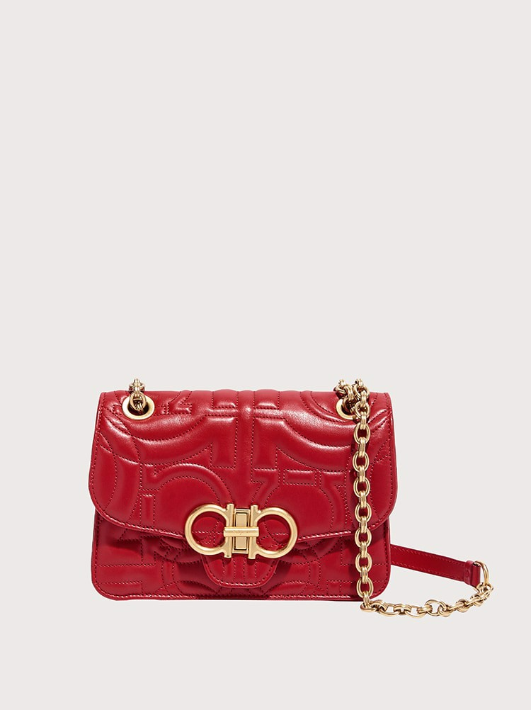 Gancio Quilted Leather Bag