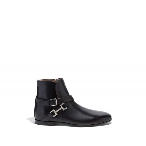 Twist Gancini Leather Ankle Boot