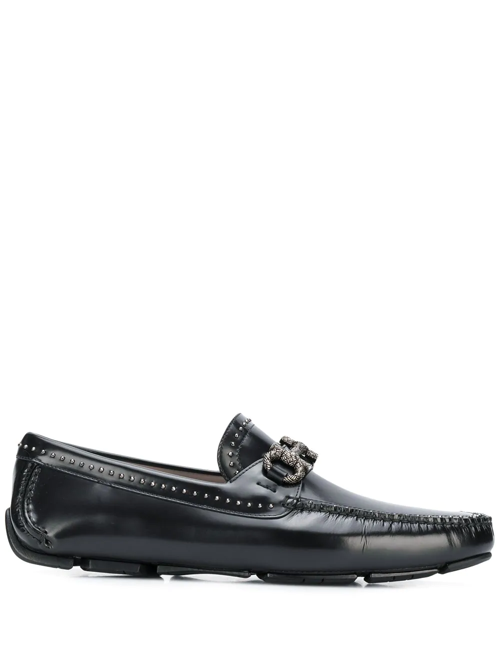 Gancini Studded Loafers