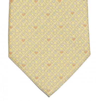 Playing cards print silk tie