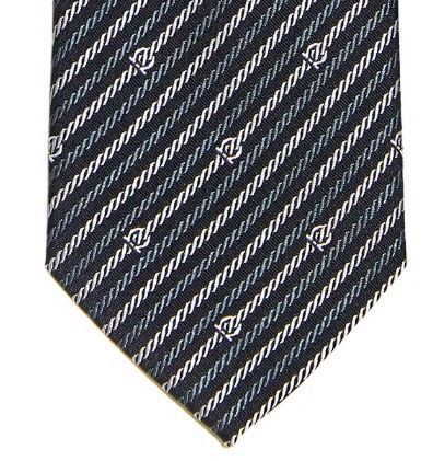 Silk jacquard tie with Gancini