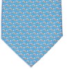 Silk tie with swimmer print