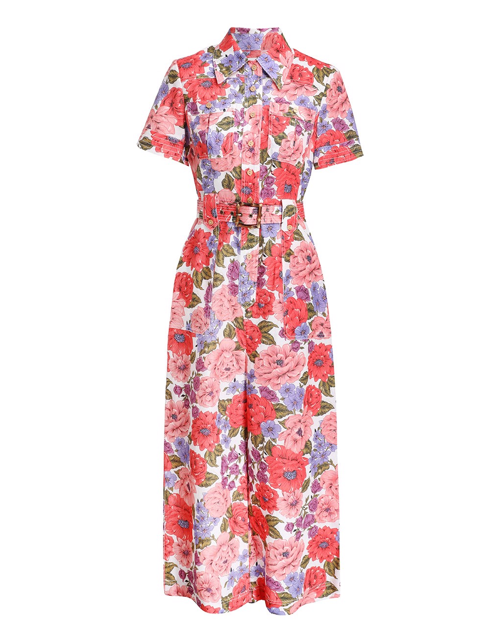 POPPY BELTED SAFARI JUMPSUIT-9370UPOP