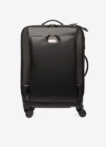 FABRIC BEND TROLLEY BAG IN BLACK
