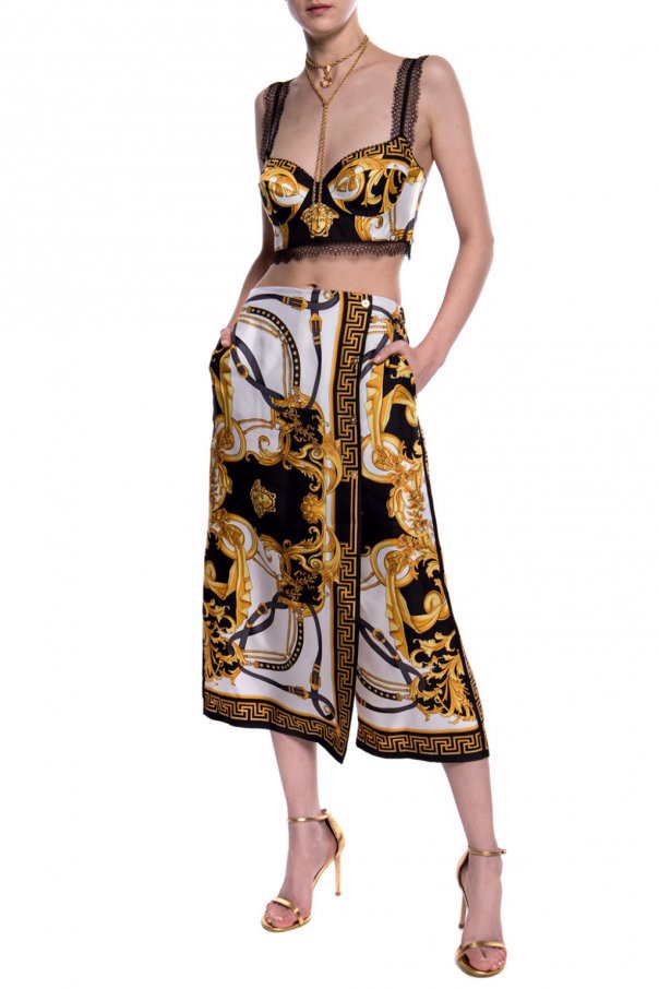 Barocco-printed trousers Versace