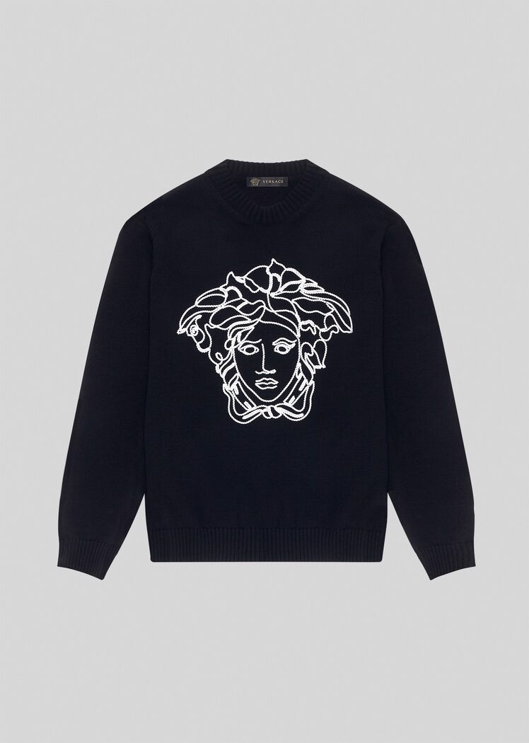 Embroidered Medusa Wool Jumper