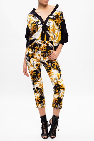 Barocco-printed trousers