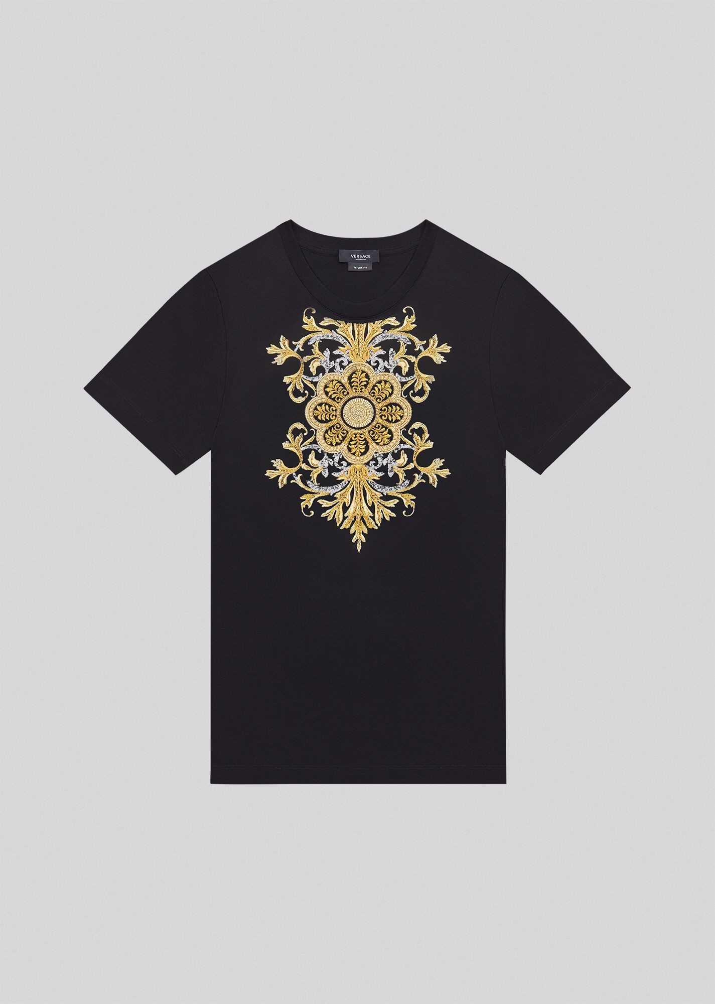 Embroidered Barocco Acanthus T-Shirt