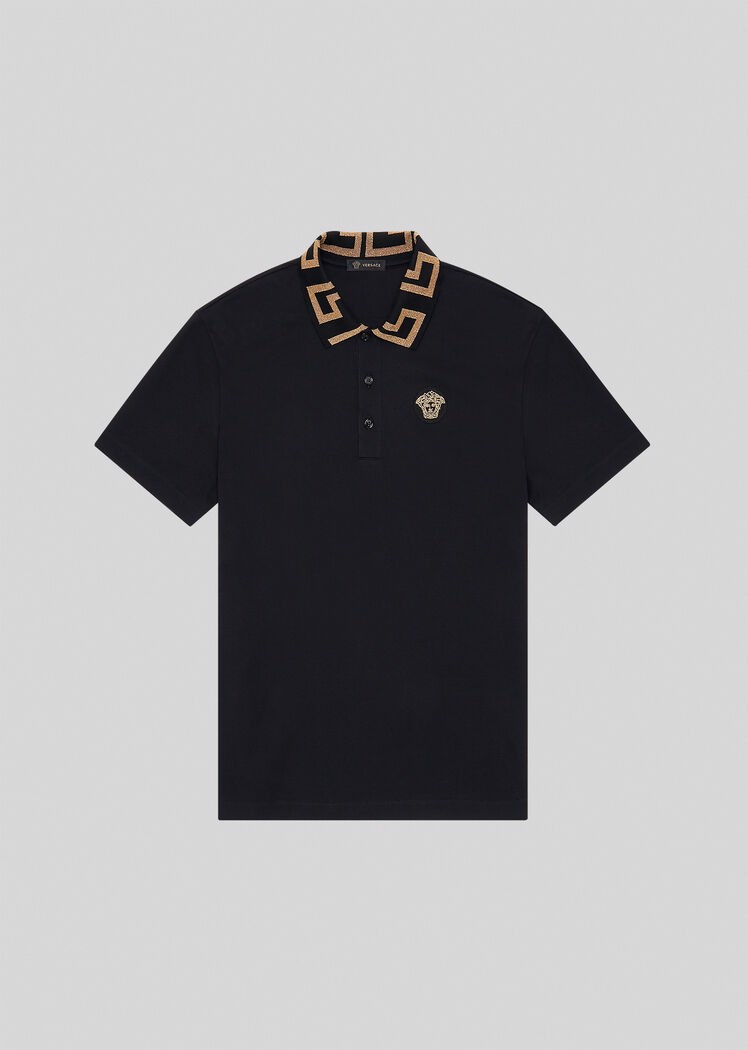 Greca Collar Polo Shirt