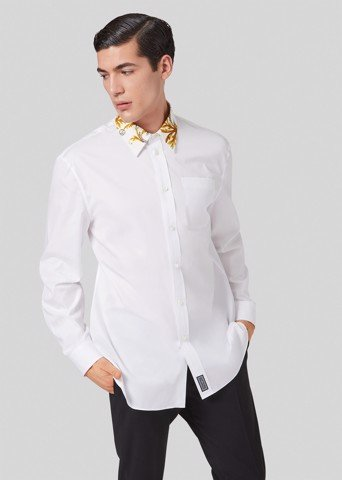 Acanthus Accent Cotton Poplin Shirt