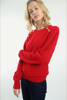 Sweater with buttons - TASMINE ROUGE