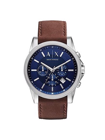 AX Analog Watch 0 Jwl Ss Leather Strap (AX2501)