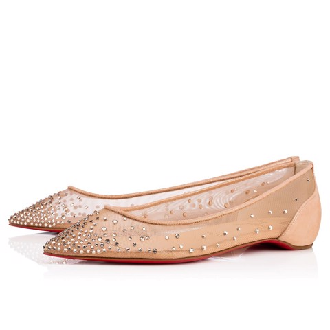 FOLLIES STRASS NUDE FLAT