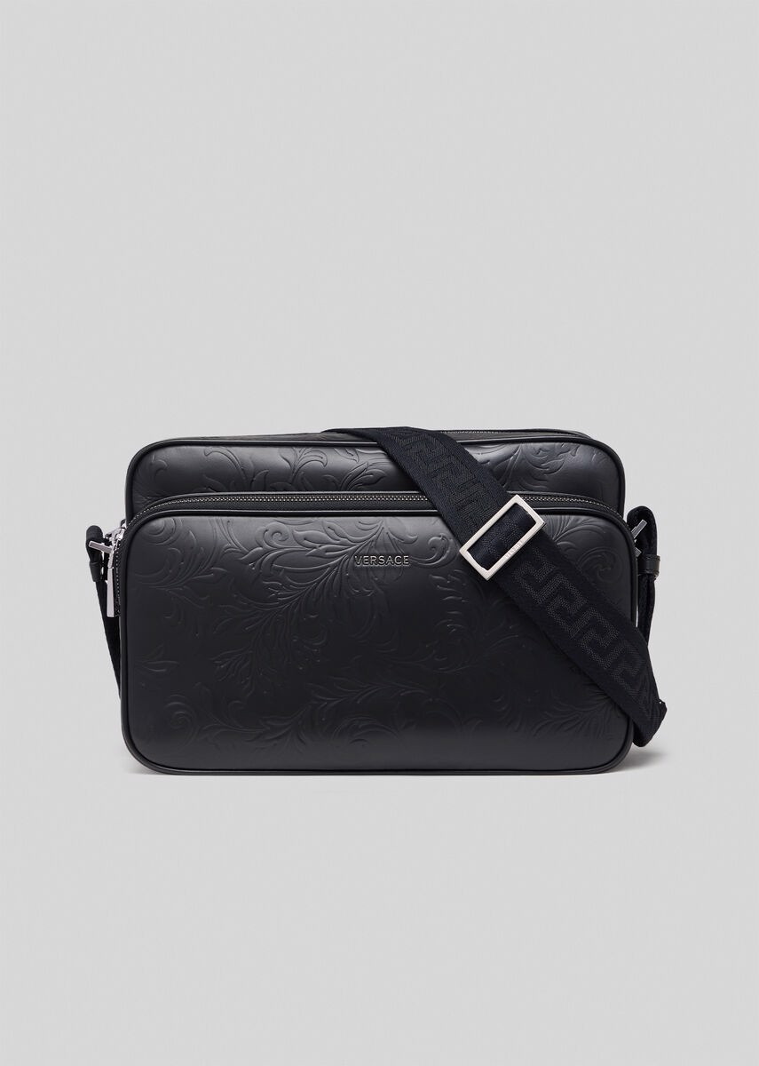 Embossed Barocco Messenger Bag