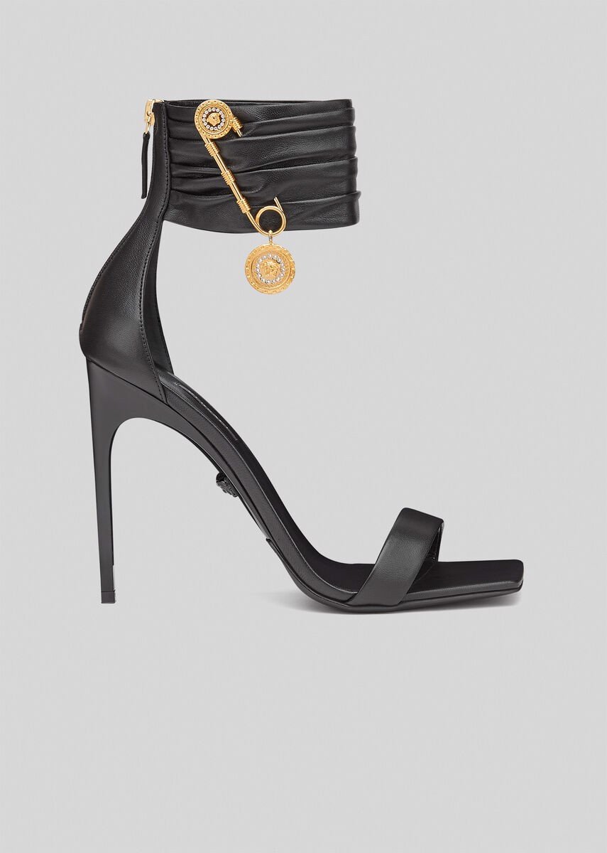 Safety Pin Nappa Leather Sandals