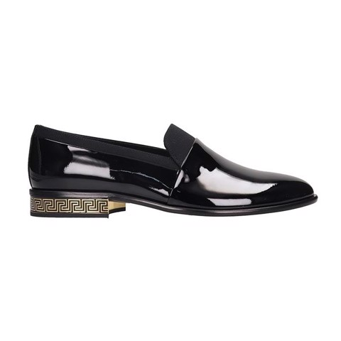 Black Loafers in Black Patent Leather