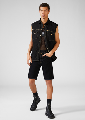 METAL HARDWARE DENIM SHORTS