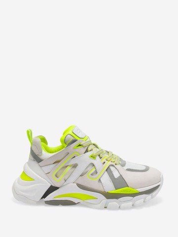 FLASH WHITE SILVER YELLOW SNEAKER