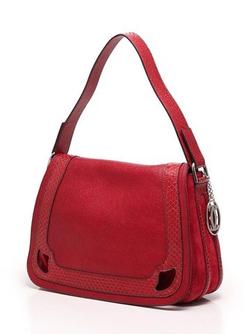 BAG MARCELLO SADDLE MM RED LAMB-L1001341 - 1400
