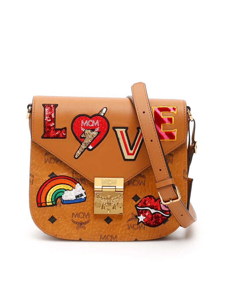 MCM Patricia Love Patch Shoulder Bag