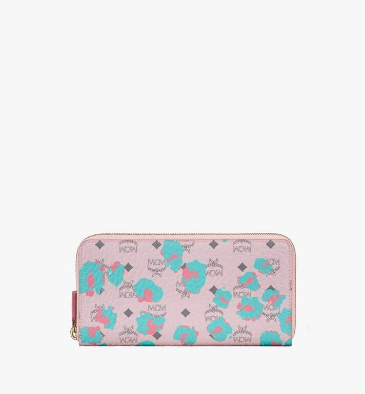 Zip Around Wallet in Floral Leopard