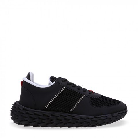 Black Mesh Urchin Sneakers