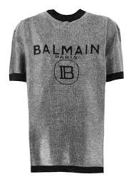 SS Metallic Balmain Logo Top