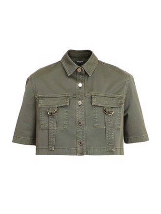 CROPPED SS MILITARY SHIRT