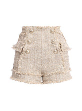 HIGH WAIST 6 BTN TWEED