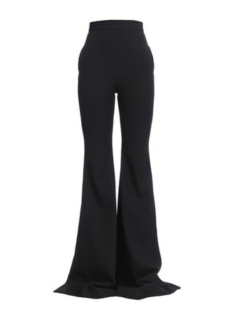 HIGH WAIST GRAIN DE POUDRE FLARED PANT