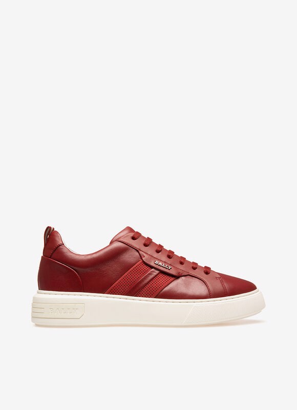 MAXIM Leather Sneakers In Bally Red