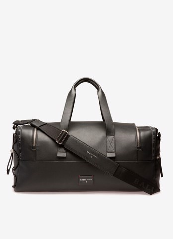 HARLOW  Leather Weekender Bag In Black