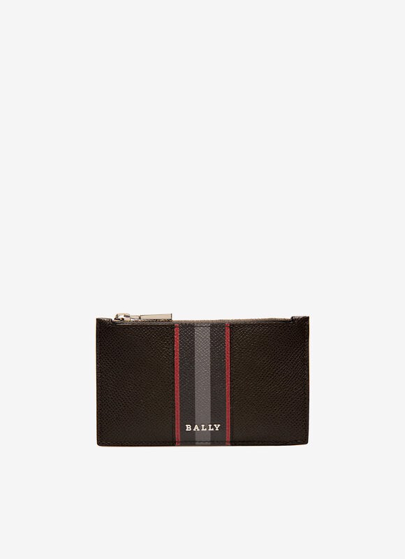 BABE Leather Card Holder In Black