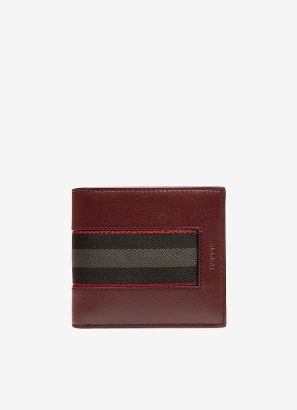 BRASAI Leather Wallet In Burgundy