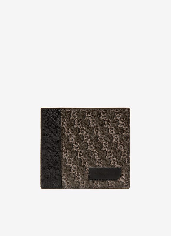 BRASAI Coated Canvas Wallet In Dark Grey