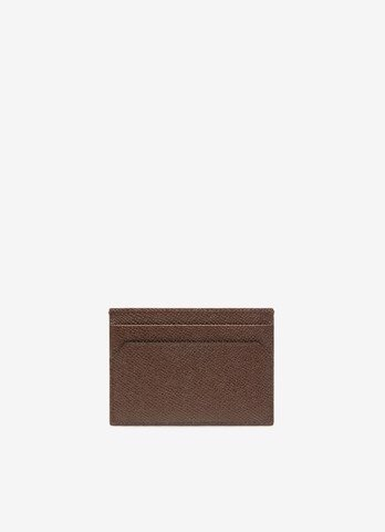 THAR  Leather Card Holder In Brown