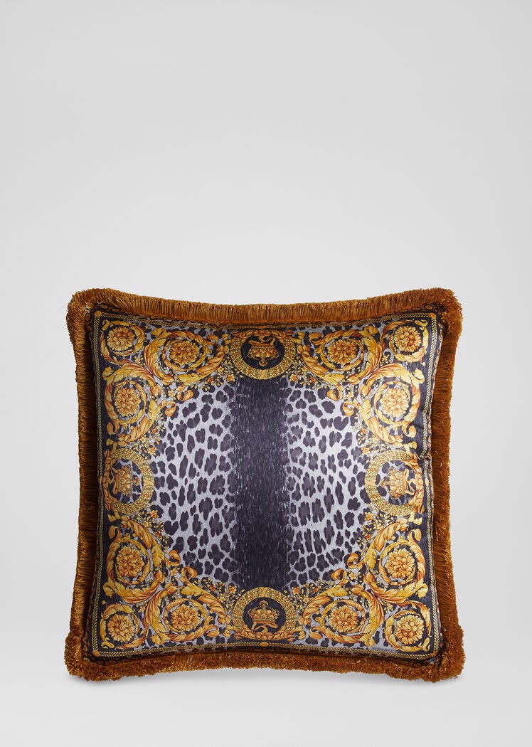 GỐI - Wild Baroque Print Silk Cushion