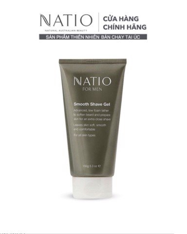 Natio Gel Cạo Râu For Men Smooth Shave Gel 150g