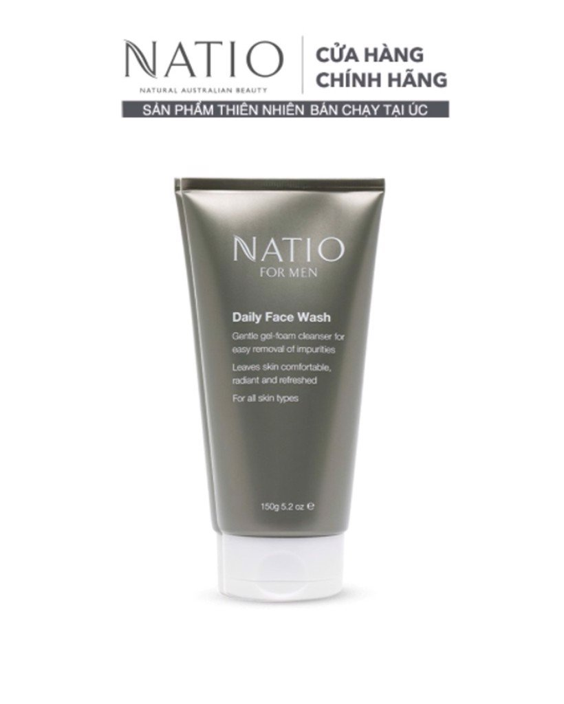 Natio Gel Rửa Mặt Hàng Ngày Cho Nam For Men Daily Face Wash 150g