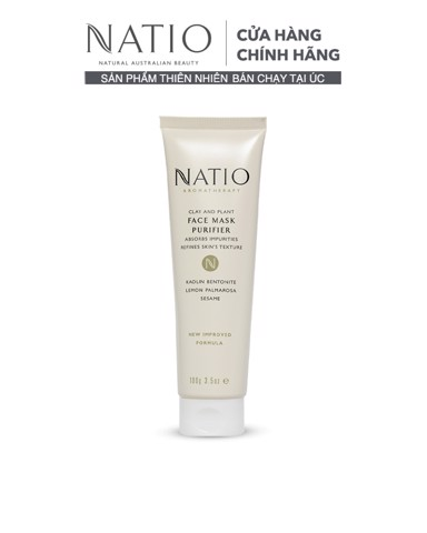 Natio Mặt Nạ Thanh Lọc Da Clay And Plant Face Mask Purifier 100g