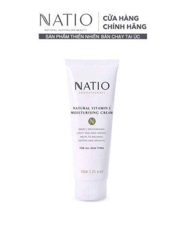 Natio Kem Dưỡng Ẩm Da Vitamin E Natural Vitamin E Moisturising Cream 100ml