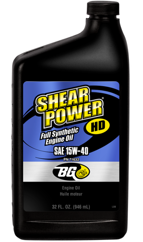 BG Shear Power® HD, Full Synthetic Diesel Oil 15W-40