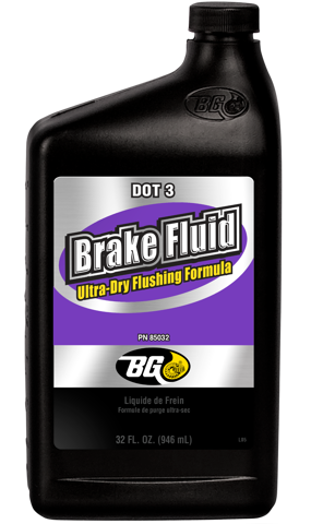 BG DOT 3 Brake Fluid Ultra-Dry Flushing Formula