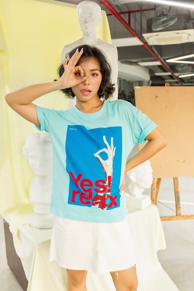Áo Thun Nữ In Yes Relax WTS 4086 -