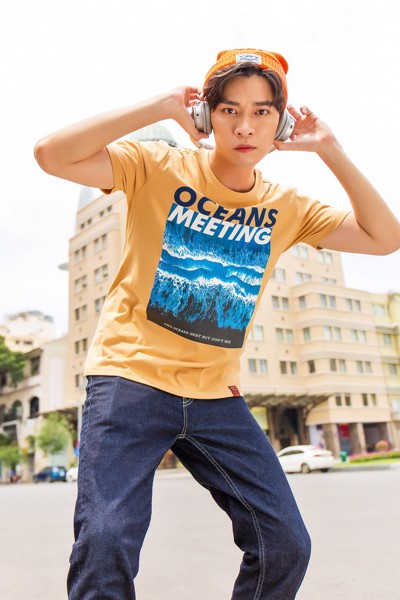 Áo Thun Nam In Oceans Meeting MTS 3079 -
