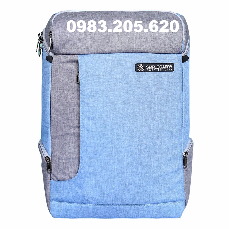 Balo laptop 15.6 inch simplecarry K5 Blue Grey